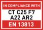 CT C25 F7 A22 AR2 - EN13813