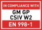 GM GP CSIV W2 - EN998-1