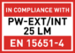 PW-EXT/INT 25LM - EN15651-4